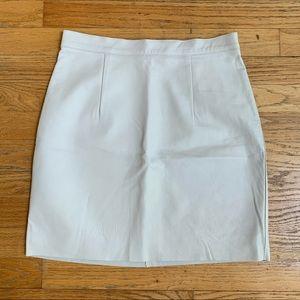 American Apparel GENUINE LEATHER white mini skirt